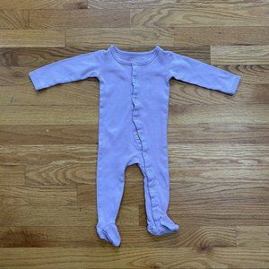 L'oved Baby One Piece Footsie All In One Lavender